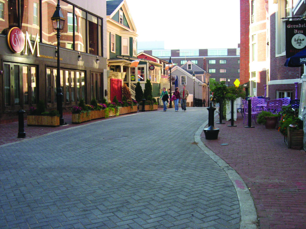 commercial shared street national association of city transportation officials. Black Bedroom Furniture Sets. Home Design Ideas