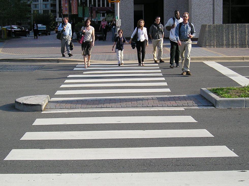 Dangerous driver knocked down pedestrian at zebra crossing ...