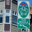 Bike Route Wayfinding Signage and Markings System