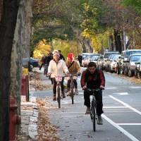 Buffered Bike Lanes on Pine and Spruce Streets, Philadelphia, PA