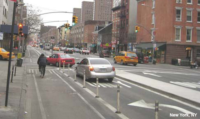 9th Avenue cycle track, New York, NY