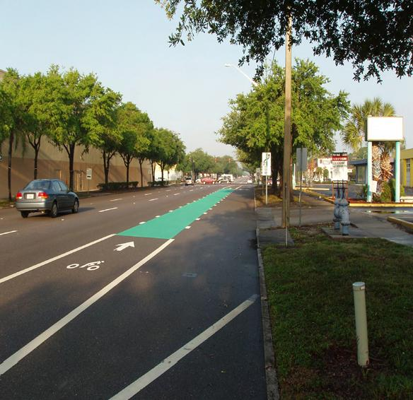 Evaluation Of A Green Bike Lane Weaving Area St