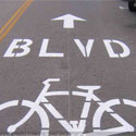 Bicycle Boulevard Signs and Pavement Markings