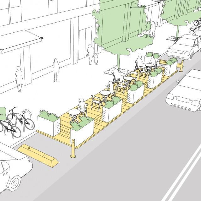 parklets national association of city transportation. Black Bedroom Furniture Sets. Home Design Ideas