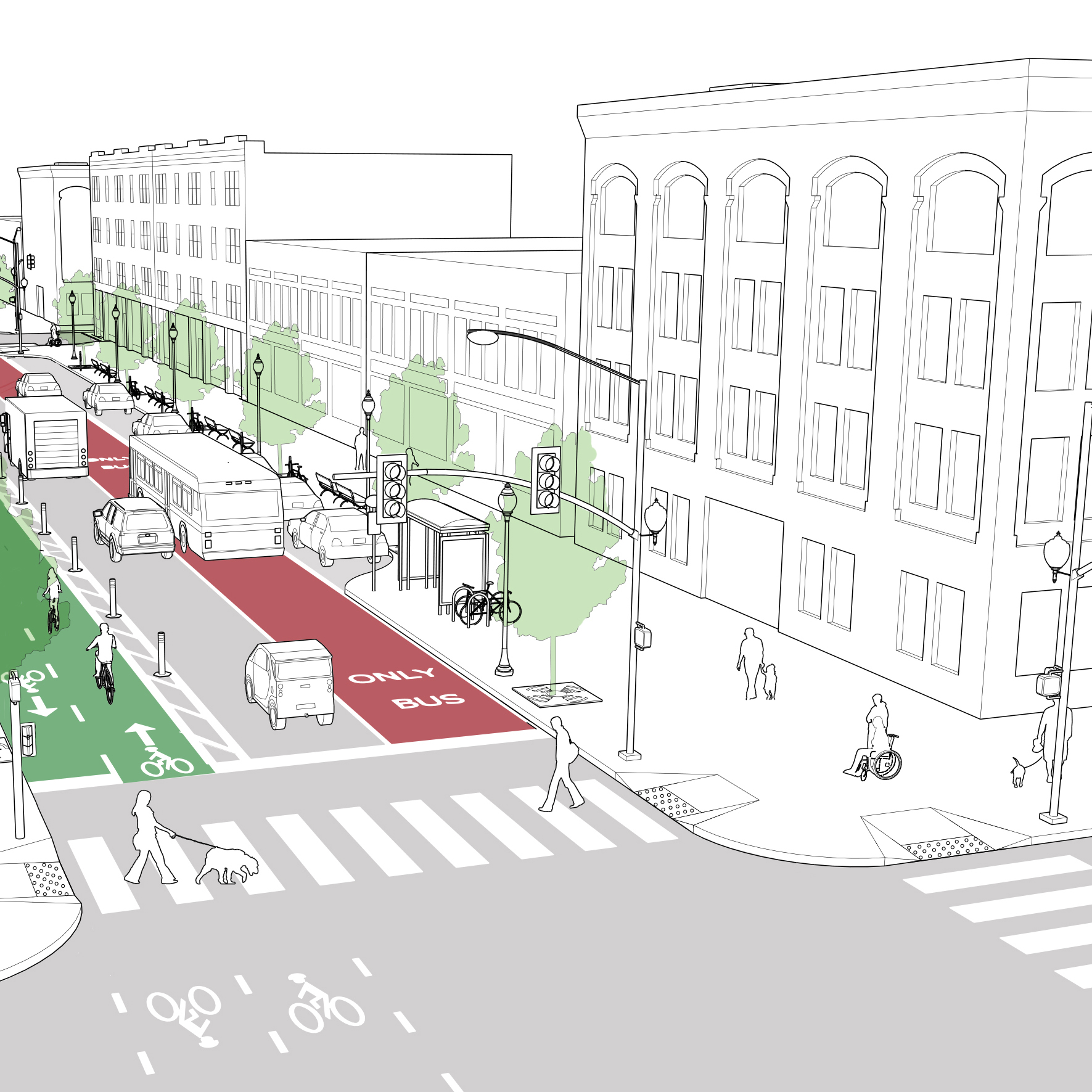 Street Furniture Design Guidelines bus stops - national association of city transportation officials