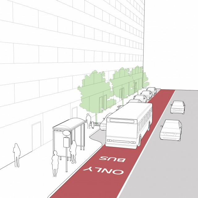 Dedicated Curbside/Offset Bus Lanes