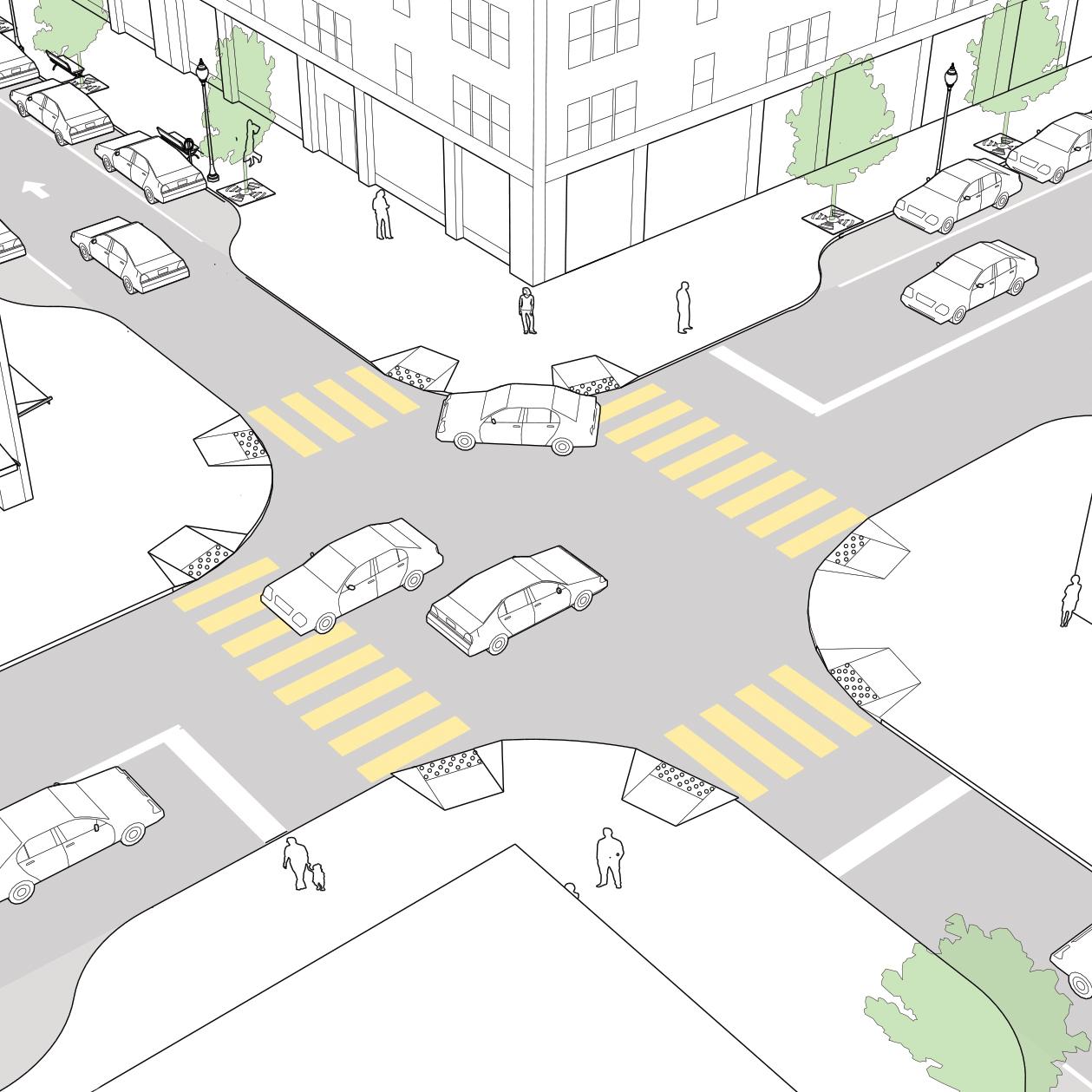 Conventional Crosswalks National Association Of City Transportation Officials