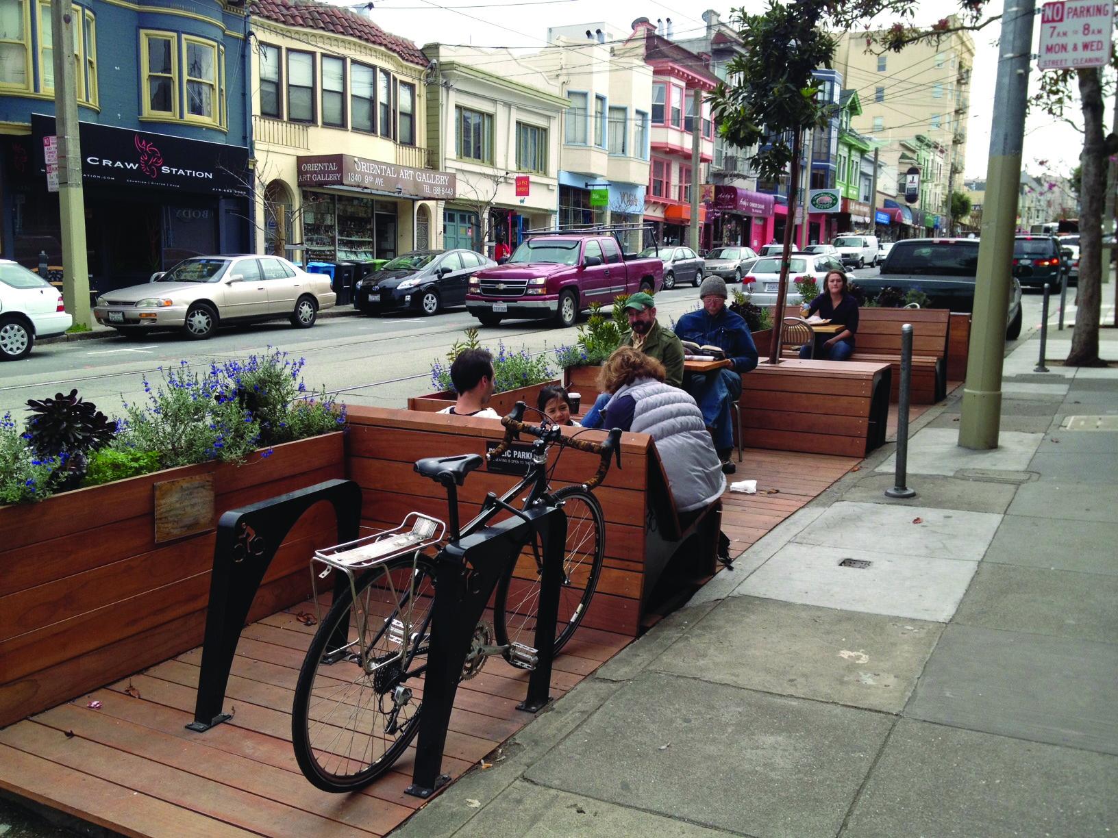 Inner Sunset District parklet, San Francisco, CA
