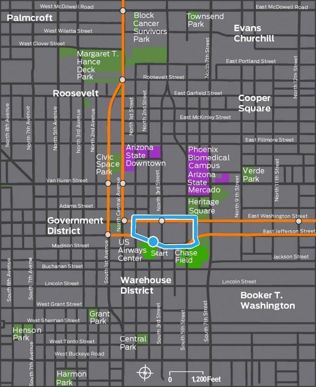 Jefferson Street Sports District Tour Map 102213