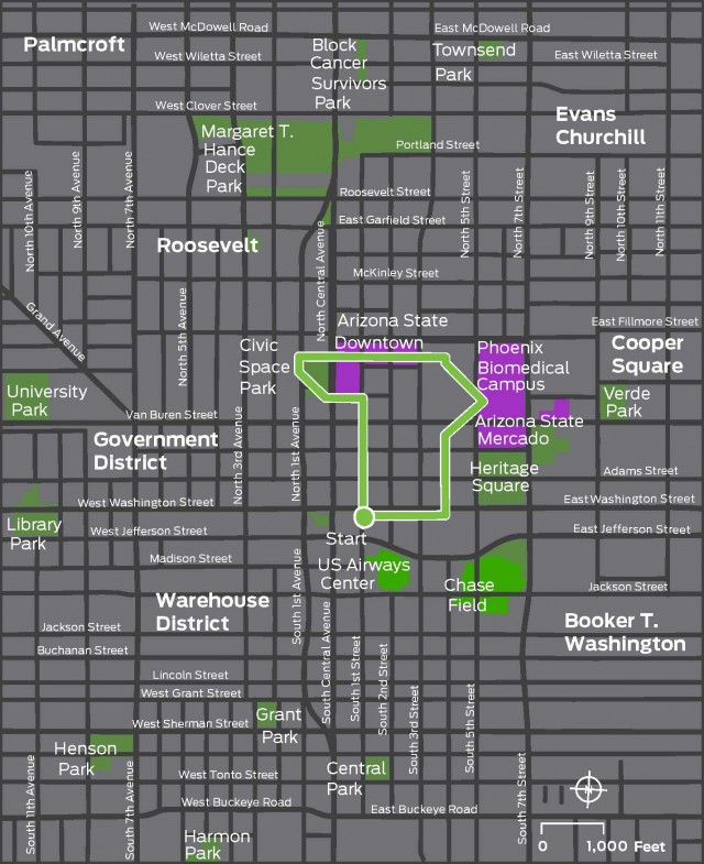 Pedestrian Areas in the Sonoran Desert Map 102213