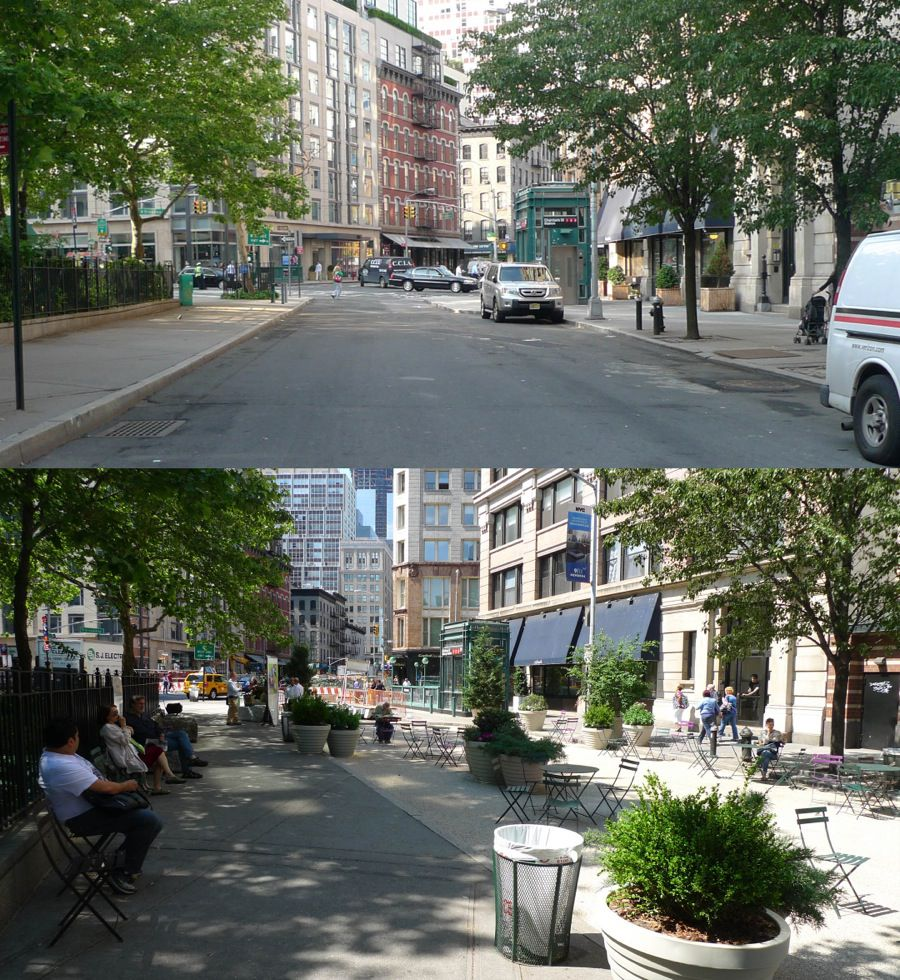 Bogardus Plaza, TriBeCa: before & after