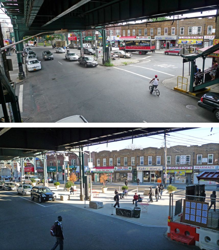 New Lots Avenue, Brooklyn: before & after
