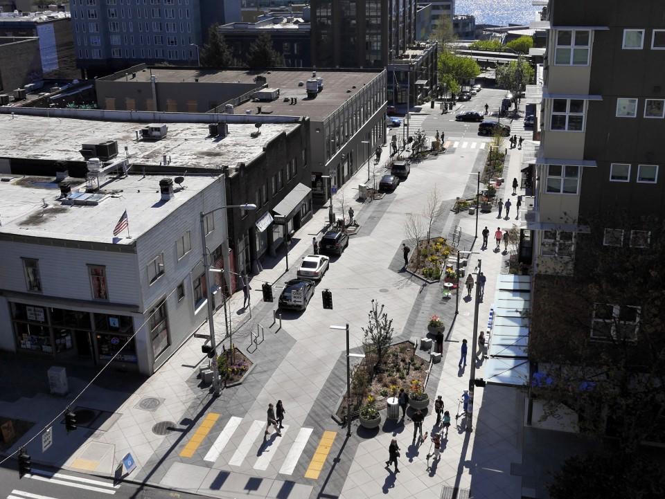 bell street park shared street  seattle