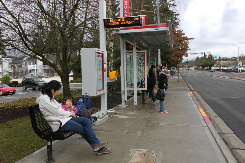 Branded rapid service shelter, Seattle (credit: Oran Viriyincy)