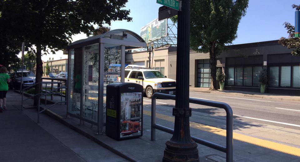 Streetcar/Bus Bulb, Portland, OR (credit: Ben Baldwin)