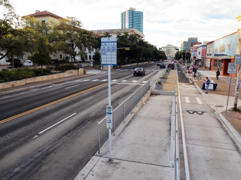 Guadalupe St, Austin (credit: Austin Transportation Department)
