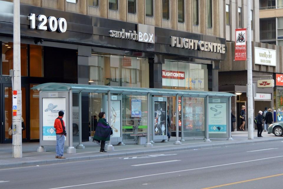 Renewed TTC shelter on Bay St, Toronto (credit: )