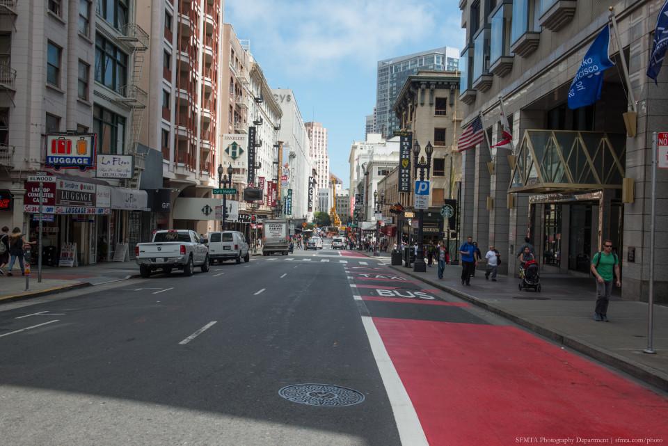 O'Farrell Street, San Francisco (credit: SFMTA)