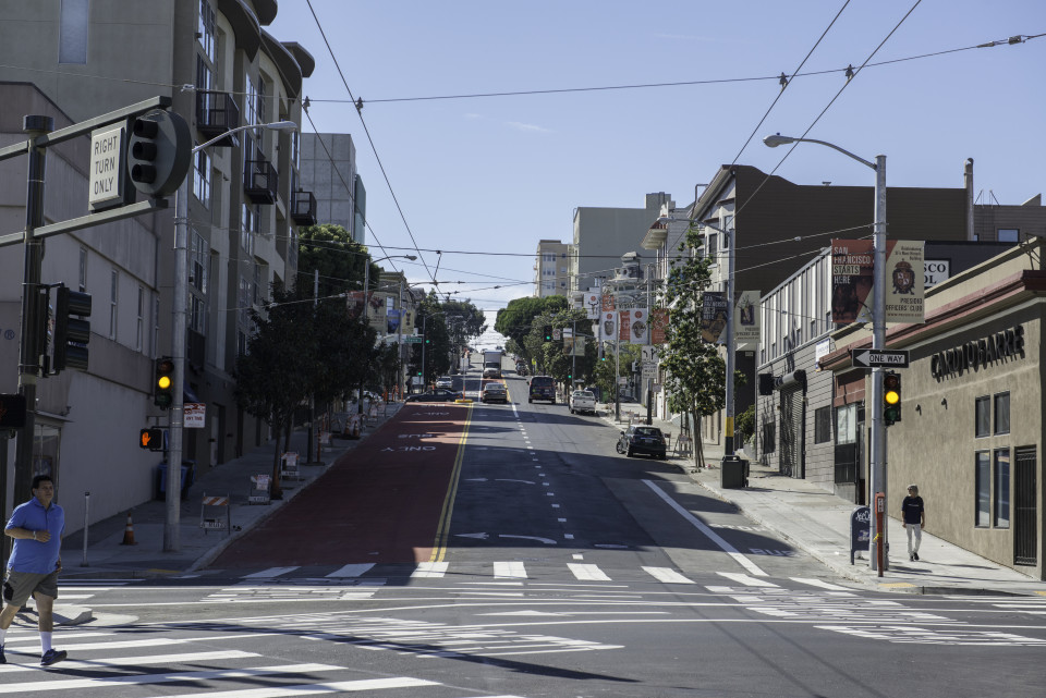 Haight St, San Francisco (credit: SFMTA)