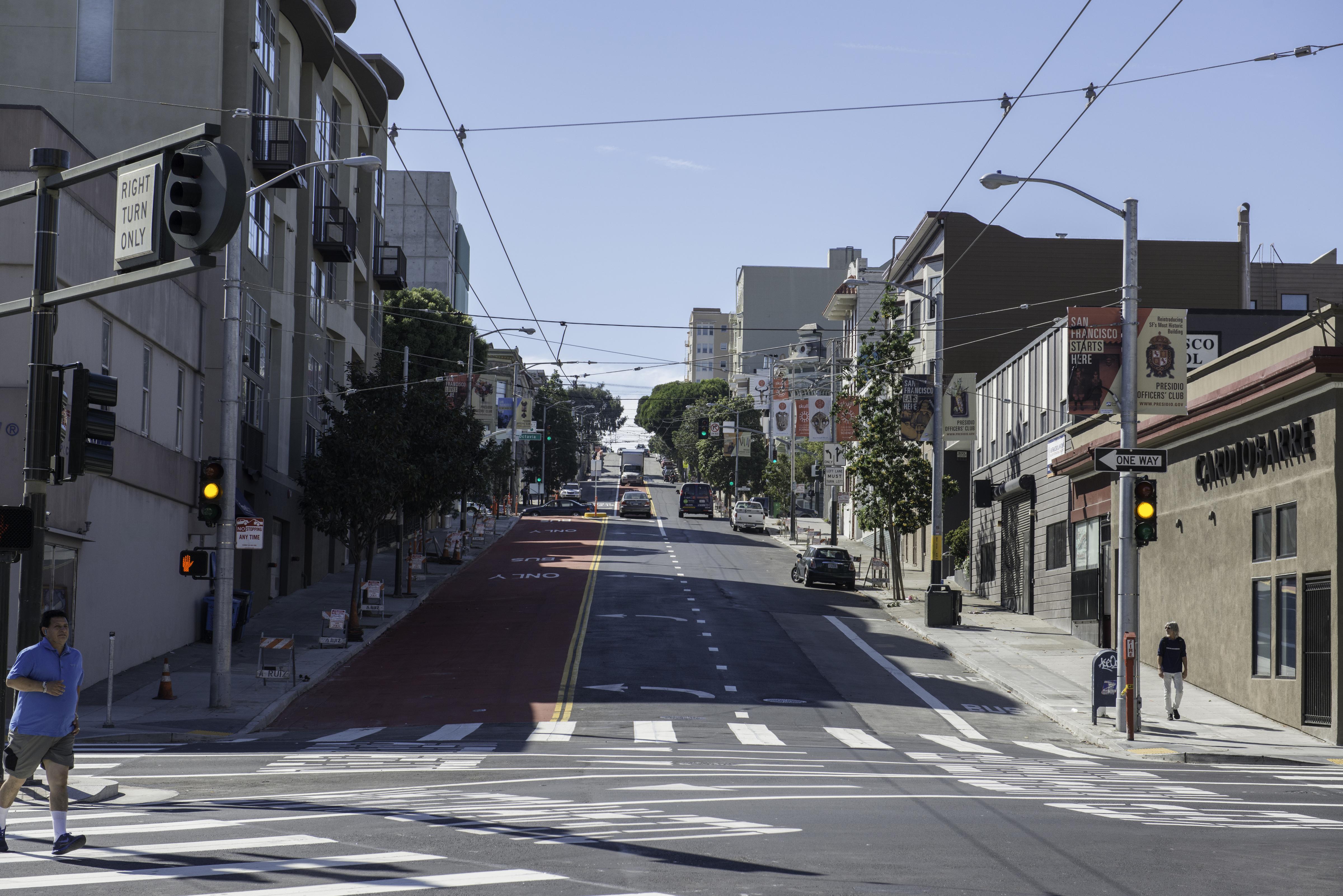 Haight Street, San Francisco (credit: SFMTA)