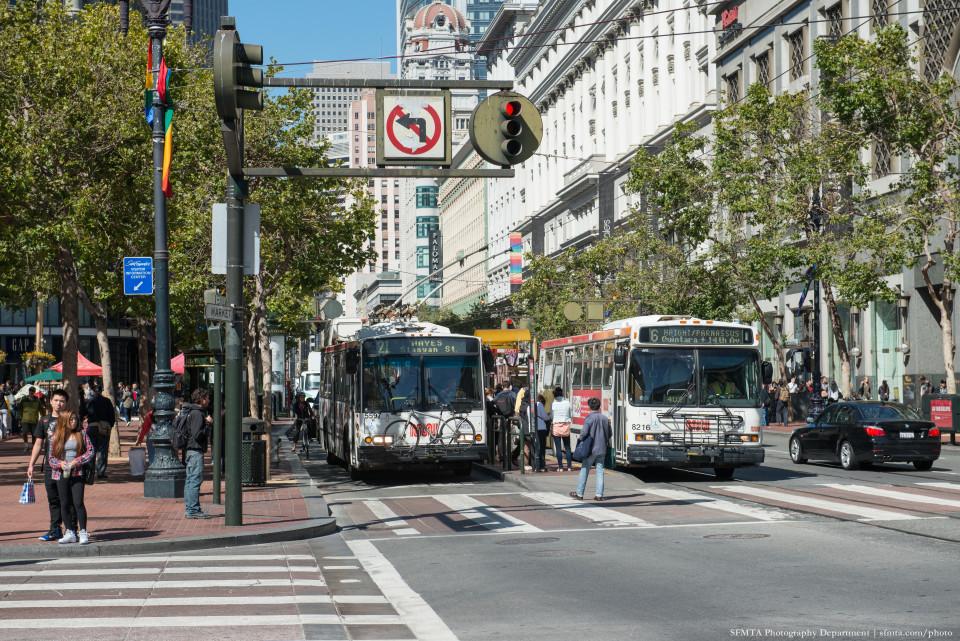 Market Street, San Francisco (credit: SFTMA)