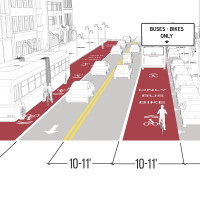 Shared Bus-Bike Lane