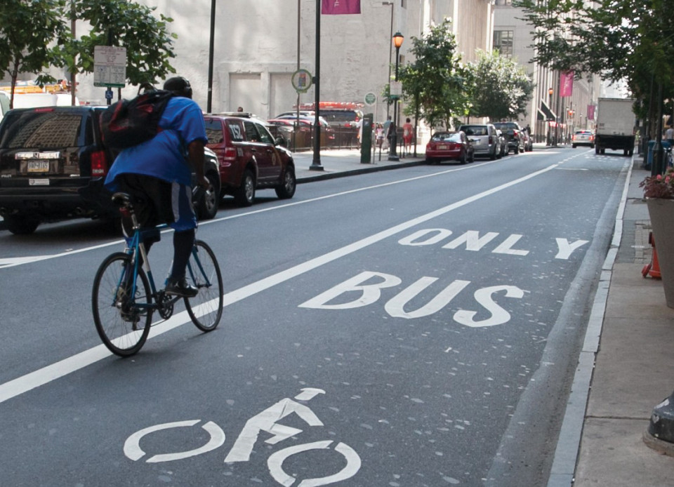 Walnut Street, Philadelphia (credit: Philadelphia Bicycle Coalition)