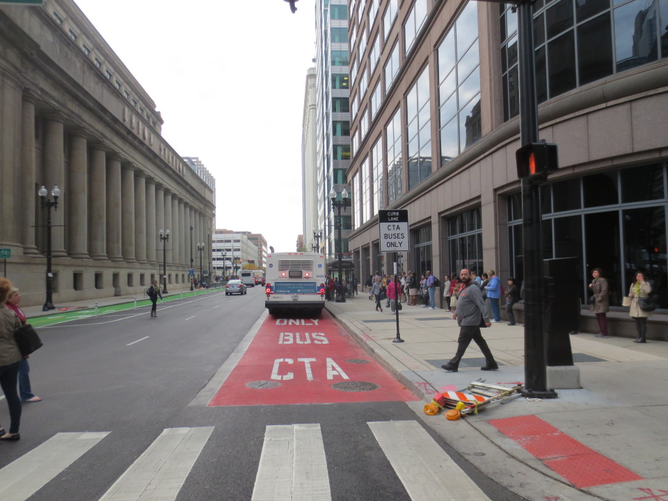 Clinton St, Chicago (credit: CDOT)