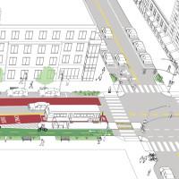 Contraflow Transit Street