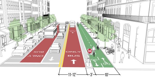 Contraflow Transit Lane
