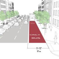 Curbside Transit Lane
