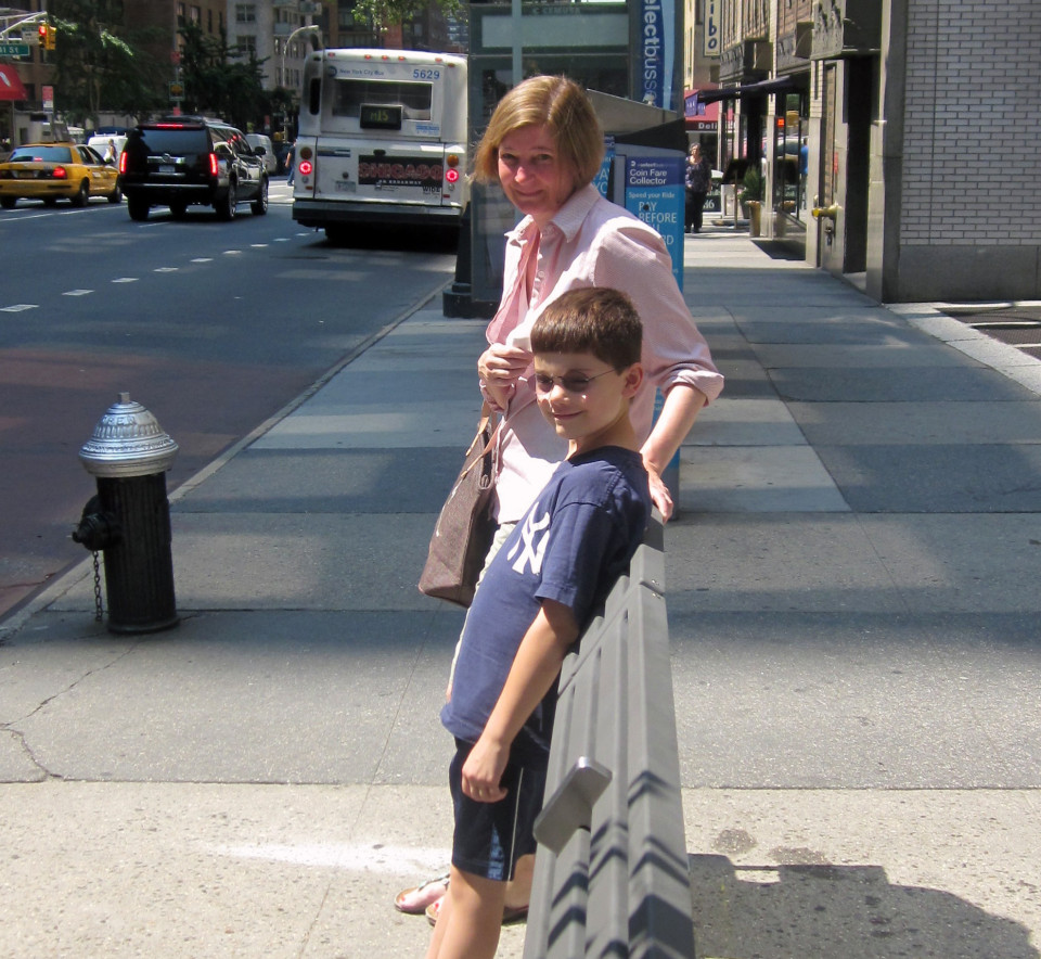Leaning rail on 1st Avenue, New York (credit: NYC DOT)