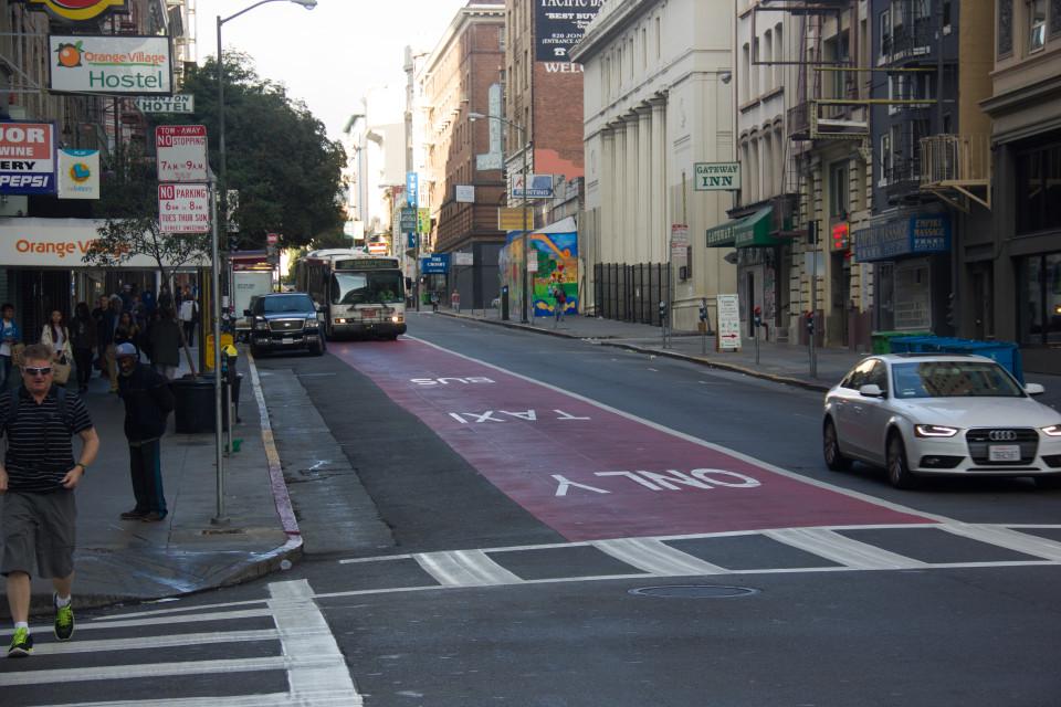 O'Farrell St, San Francisco (credit: SFMTA)