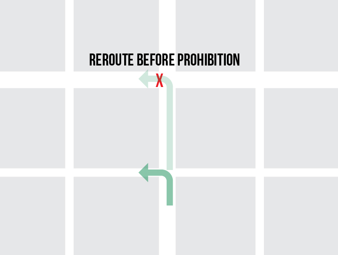 Reroute before prohibition