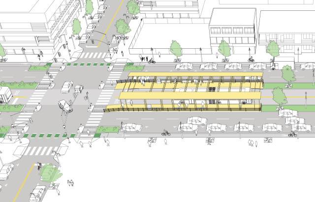 Median Rapid Transit Corridor