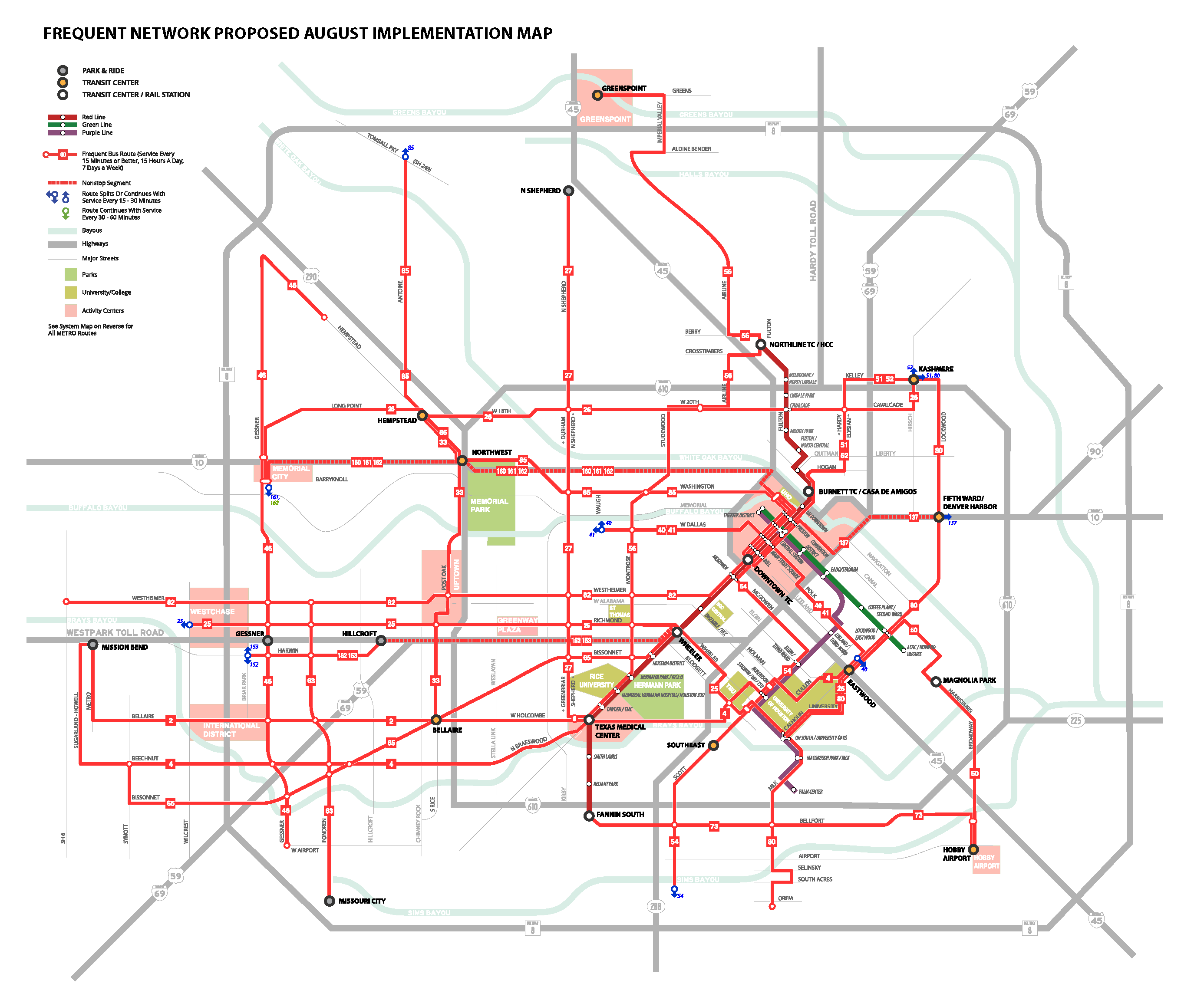 Metro Bus Network Redesign, Houston | National Association of City ...