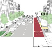 Offset Transit Lane