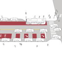 Shared Transit/Right-Turn Lane