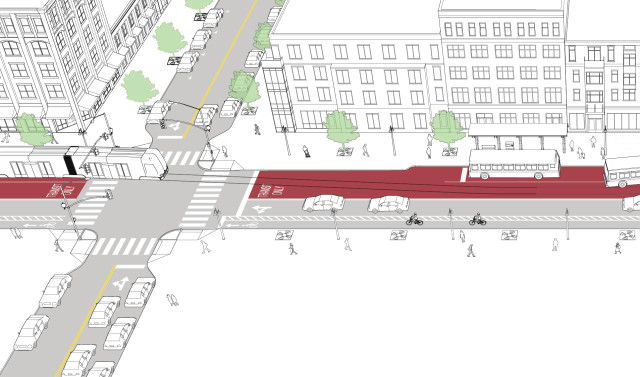 Tiered Transit Street