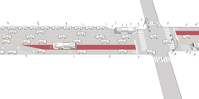 Transit Approach Lane/Short Transit Lane