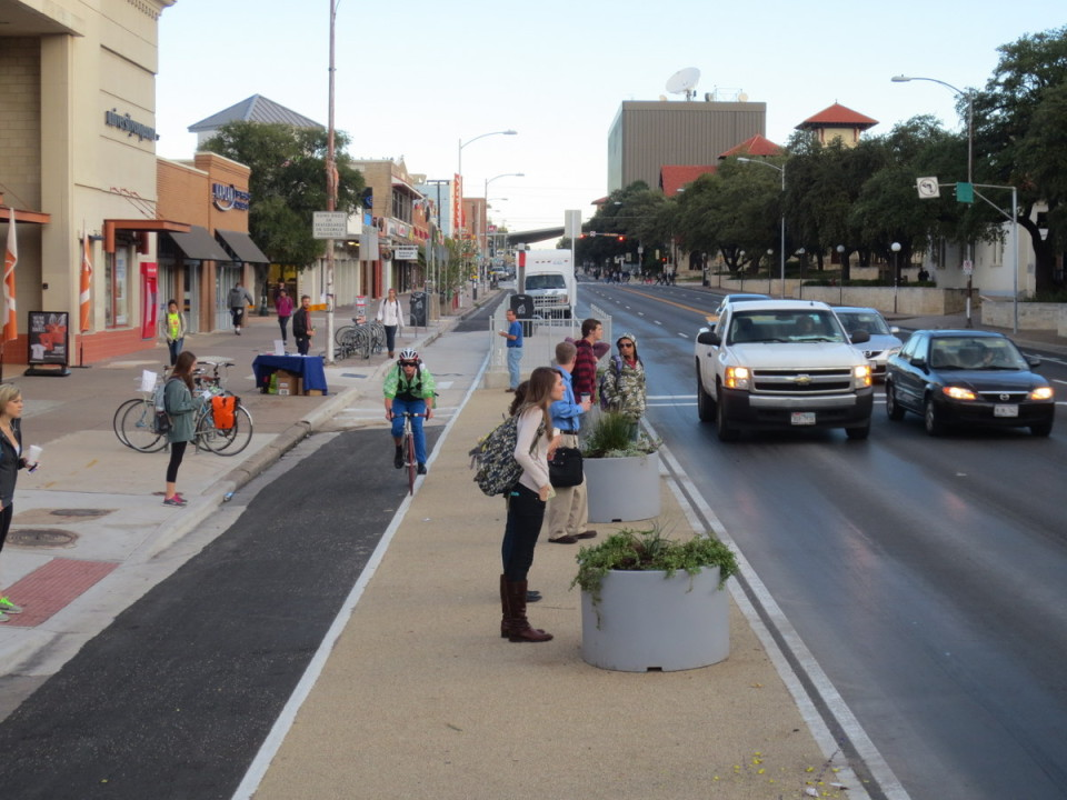 Guadalupe St, Austin (credit: Austin Transportation Department)