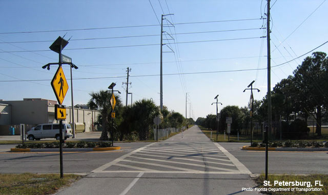 Rectangular Rapid Flash Beacon - St. Petersburg, FLPhoto: Florida Department of Transportation