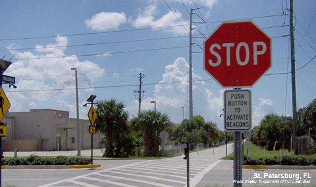 Rectangular Rapid Flash Beacon - St. Petersburg, FLPhoto: Florida Department of Transportation