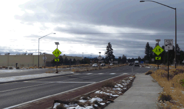 Rectangular Rapid Flash Beacon - Bend, ORPhoto: Rick Root, City of Bend