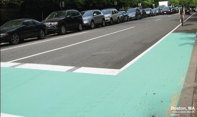 Bike Box - Boston, MAPhoto: Livable Streets Alliance