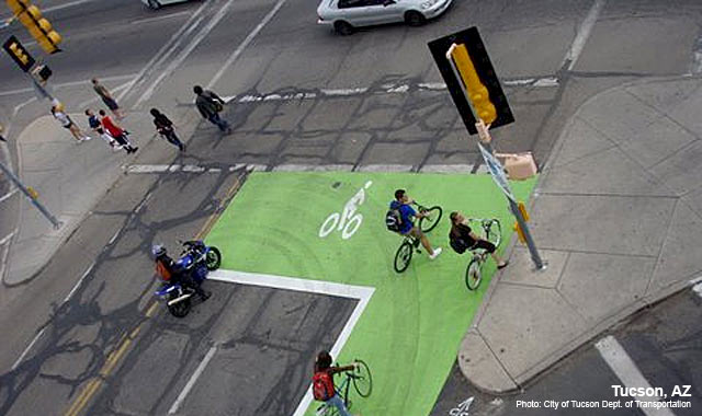 Bike Box - Tucson, AZPhoto: City of Tucson Department of Transportation