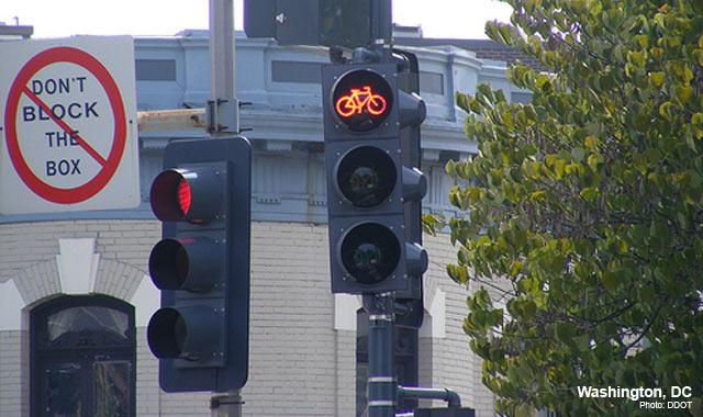 Bicycle Signal - Washington, DCPhoto: DDOT