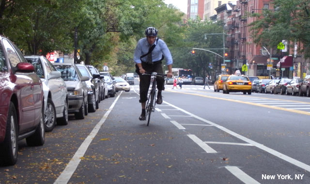 Buffered Bike Lane - New York City, NY