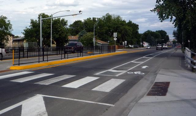 Buffered Bike Lane  - Billings, MT