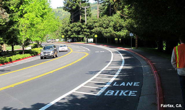 Buffered Bike Lane - Fairfax, CA